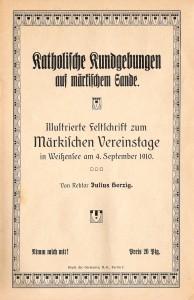 1910 Kath. Kundgebungen