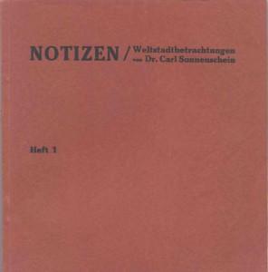 1925 Carl Sonnenschein, Notizen 1