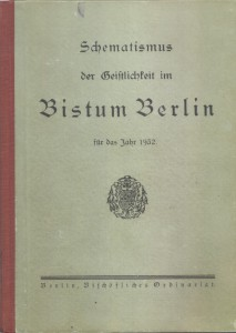 Schematismus der Geistlichkeit im Bistum Berlin 1932