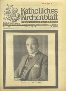 Katholisches Kirchenblatt, Nr. 28, 15. Juli 1934 [Klausener-Gedenknummer]
