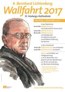 Plakat 4. Bernhard-Lichtenberg-Wallfahrt 2017